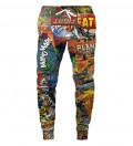 spodnie z motywem komiksu
