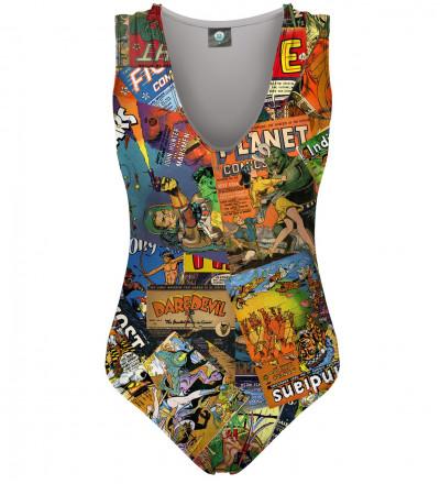 swimsuit with comics motive