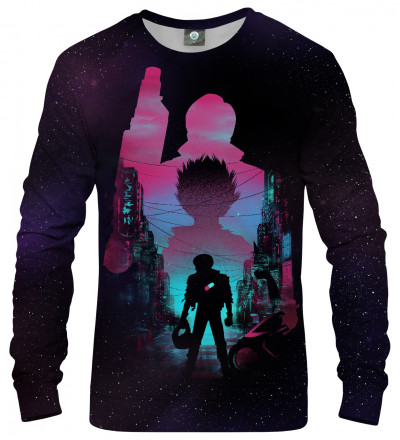 black sweatshirt with anime motive