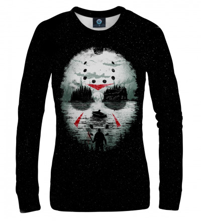 sweatshirt with horror movie motive