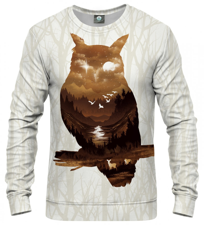 sweatshirt with owl motive