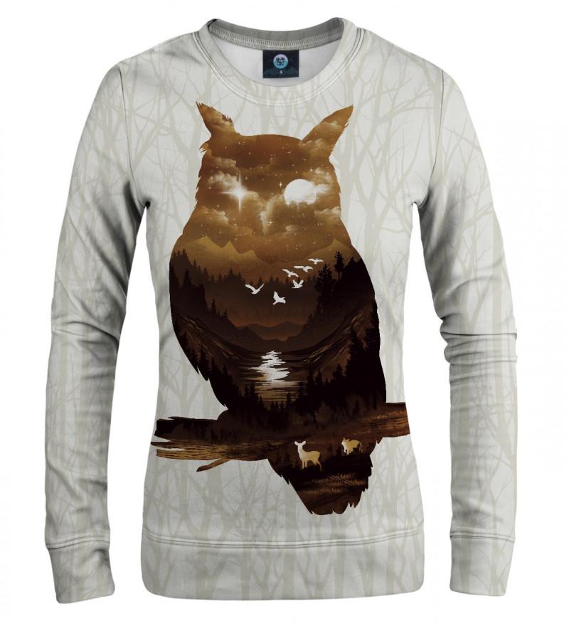 bluza z motywem sowy