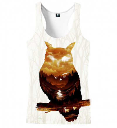 tank top with owl motive