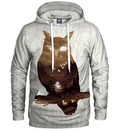 bluza z kapturem z motywem sowy