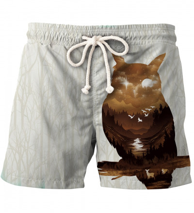 shorts with owl motive