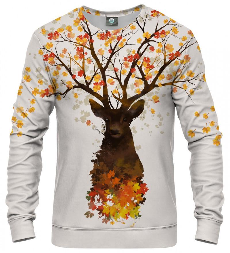 bluza z motywem jelenia