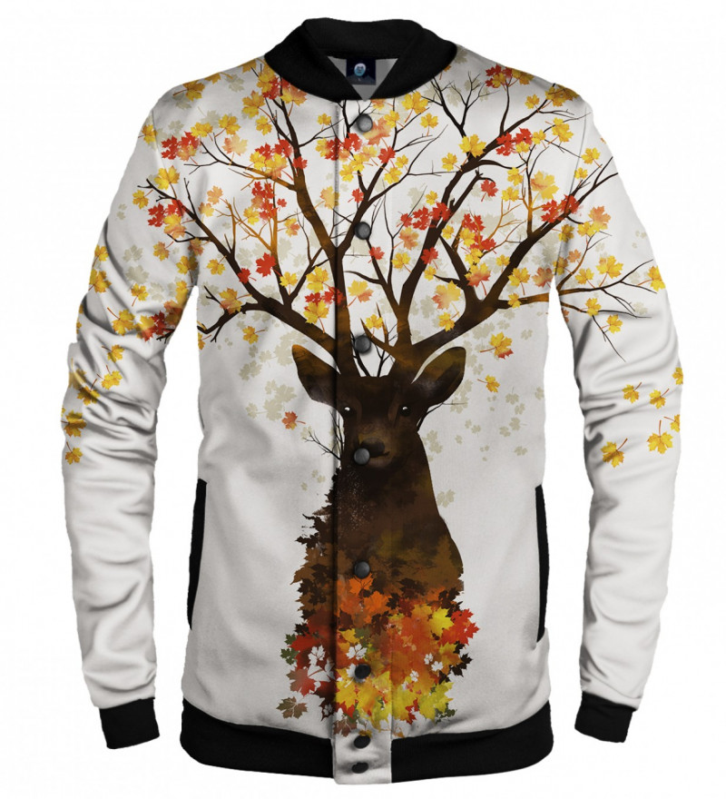 baseball jacket with into the woods motive