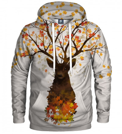 hoodie with deer motive