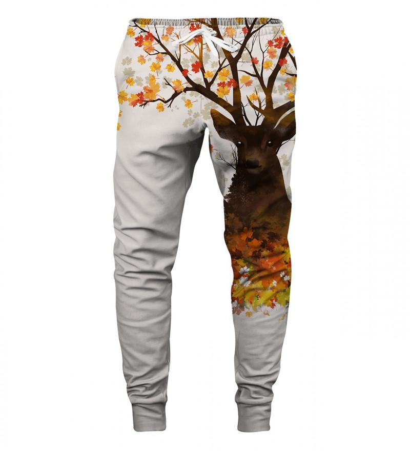 spodnie z motywem jelenia