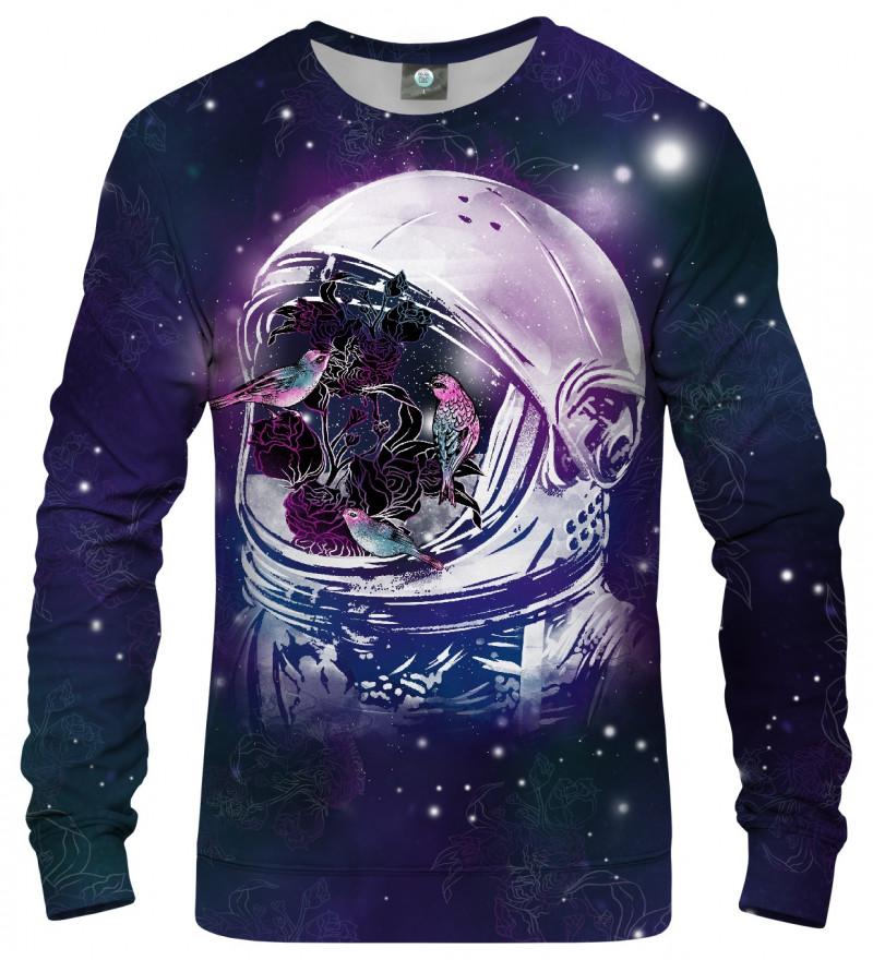 sweatshirt with birds in space