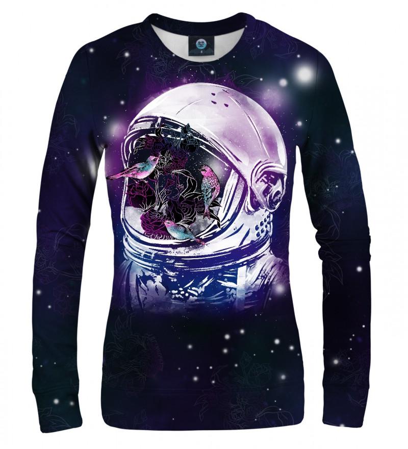 bluza z motywme ptaków w kosmosie