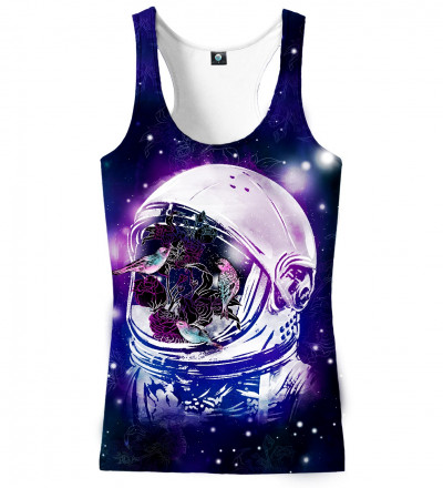 tank top with birds in space motive