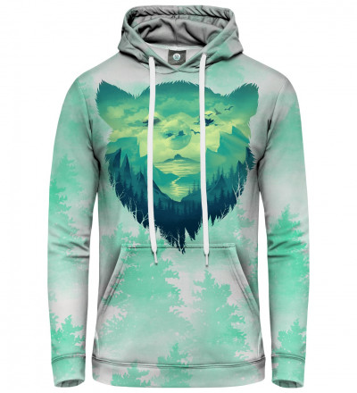 hoodie with bear motive