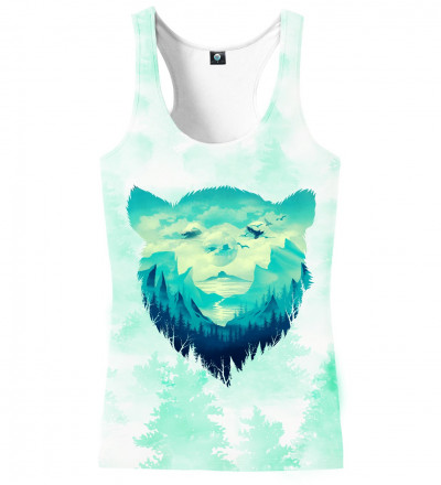 tank top with bear motive