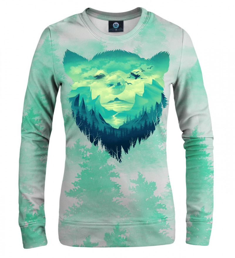 sweatshirt with bear motive