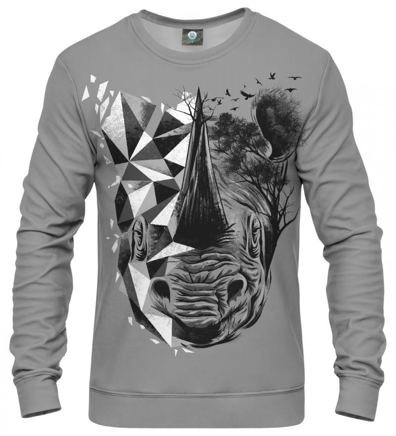 sweatshirt with rhino motive
