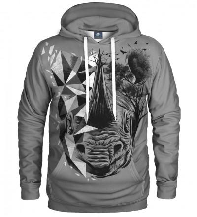 bluza z kapturem z motywem nosorożca