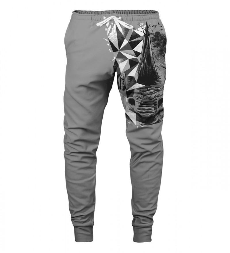 spodnie z motywem nosorożca
