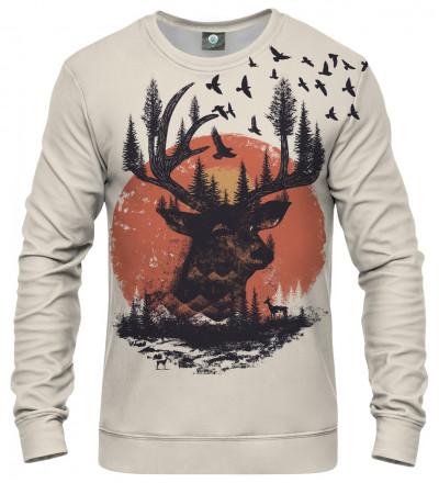 sweatshirt with sun and deer motive