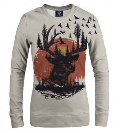 sweatshirt with sun and deer motive