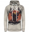 hoodie with sun and deer motive