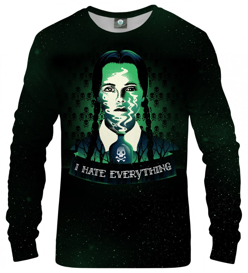sweatshirt from wednesday motive