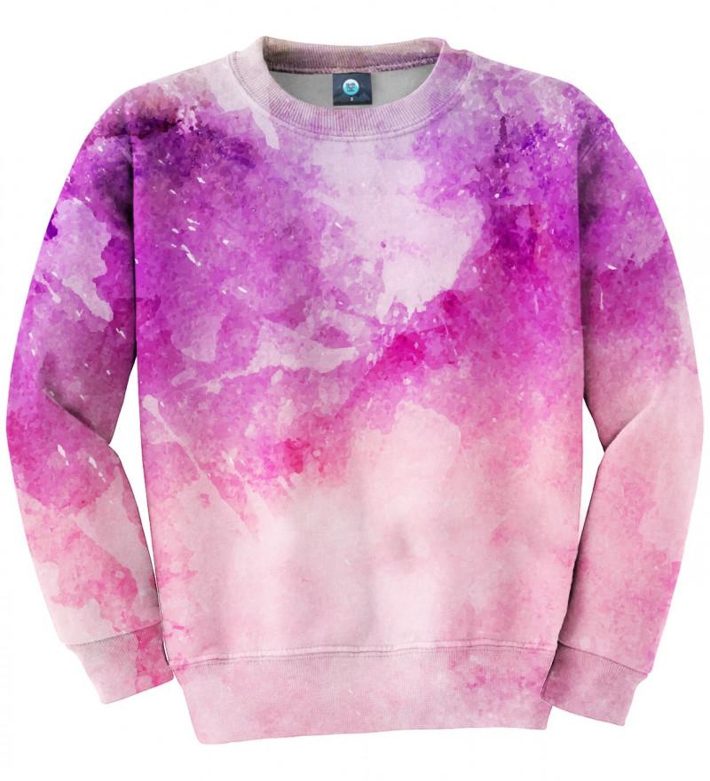 bluza z motywem różowego ombre
