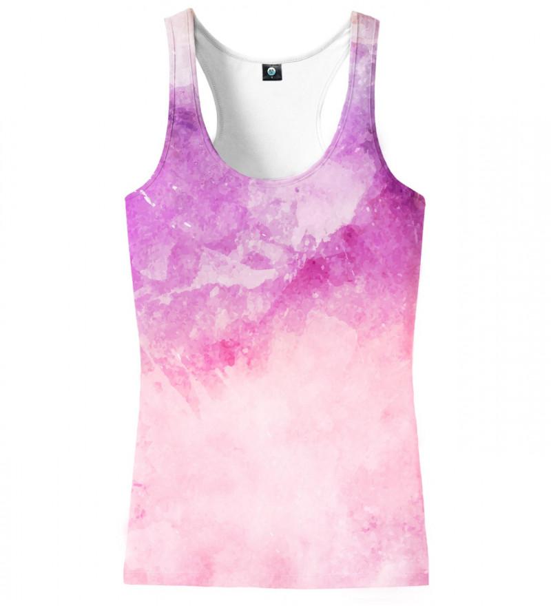 top z motywem różowego ombre