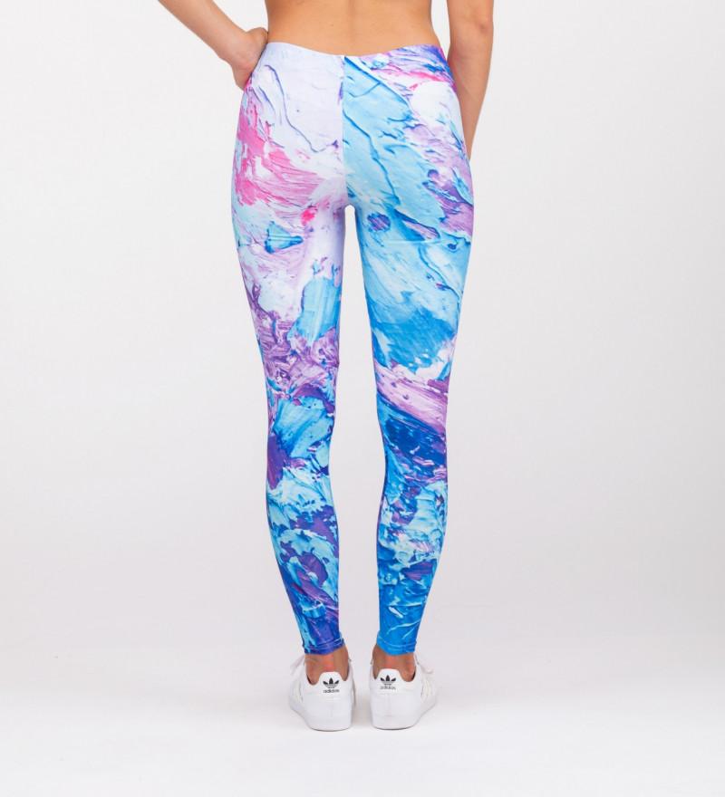 różowo-fioletowe legginsy
