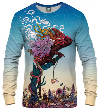 sweatshirt with lizard motive