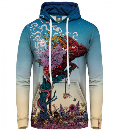 hoodie with lizard motive