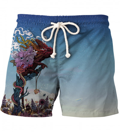 shorts with lizard motive