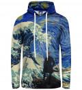 Bluza damska z kapturem Starry Wanderer of Kanagawa