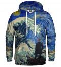 Bluza z kapturem Starry Wanderer of Kanagawa