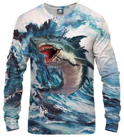 sweatshirt with shark motive