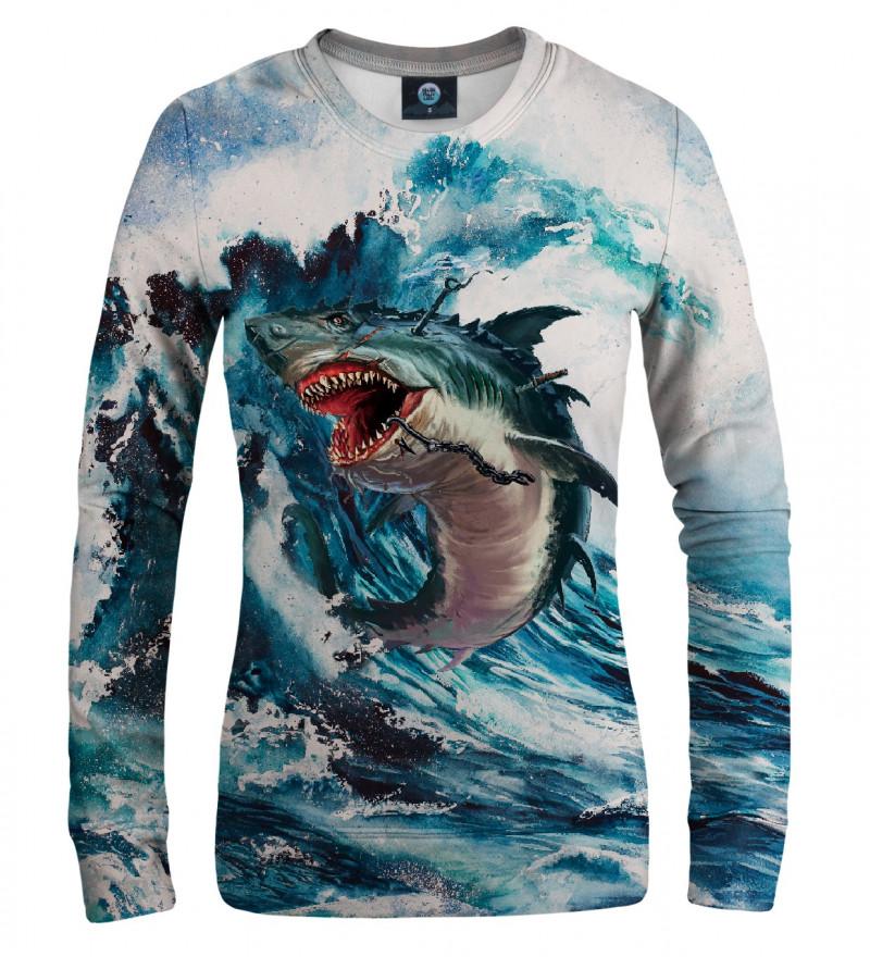 bluza z motywem rekina