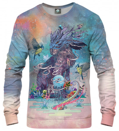 sweatshirt with rabbit and animals motive