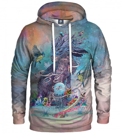 hoodie with rabbit motive