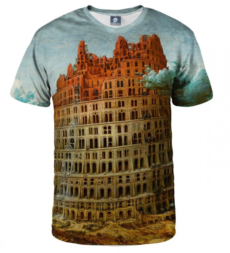 koszulka z motywem wieży babel