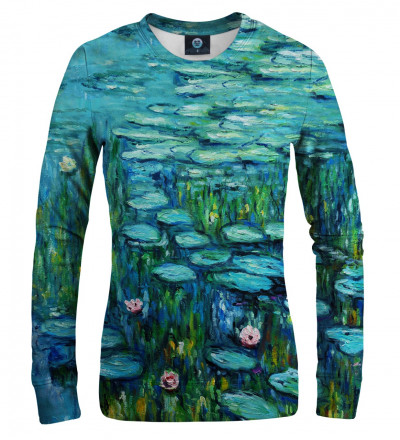 sweatshirt with water lillies motive
