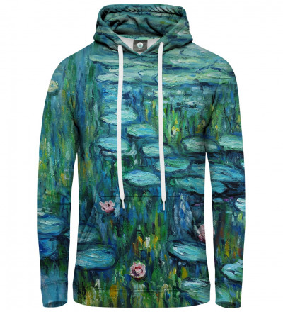 hoodie with water lillies motive