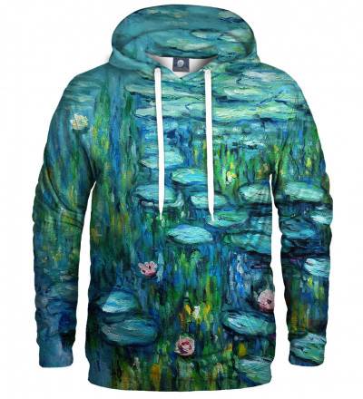 hoodie with water lillies