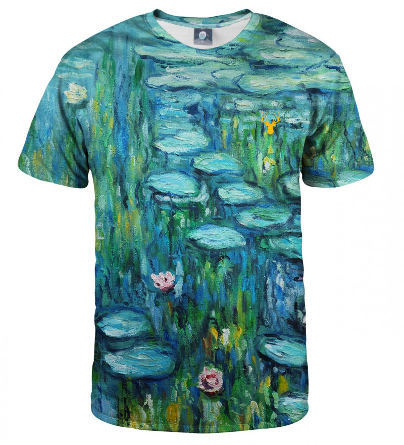 tshirt with water lillies motive