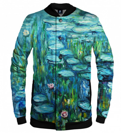 baseball jacket with water lillies