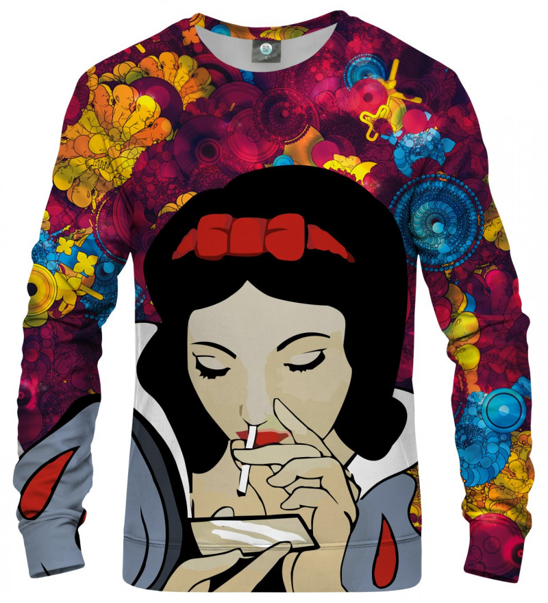 sweatshirt with dirty snow white motive