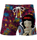 shorts with snow white motive