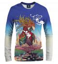 sweatshirt with parrot motive