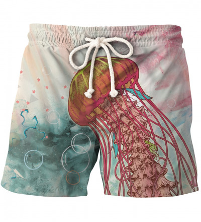 shorts with jellyfish motive