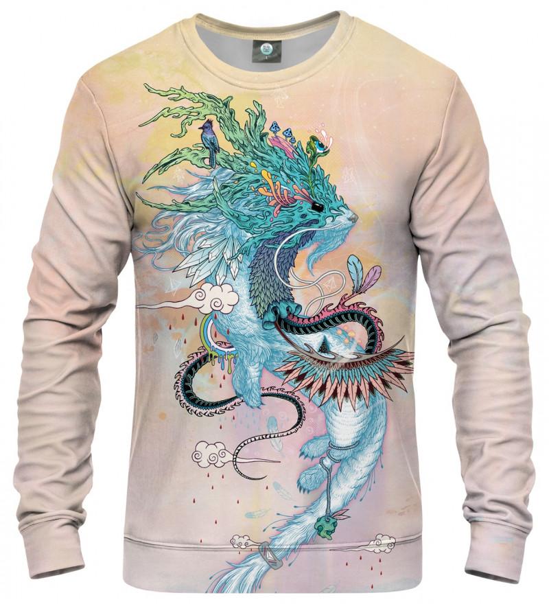 sweatshirt with ermine motive