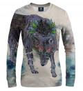 Journeying Spirit -Wolf women sweatshirt